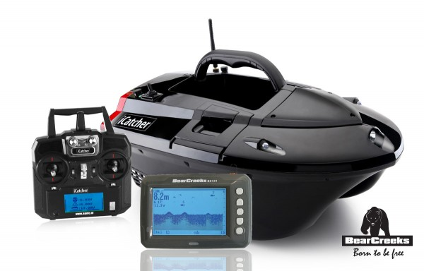 BearCreeks iCatcher Futterboot 5.8 Lithium Version & Echolot BC131
