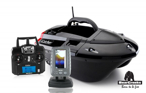 BearCreeks iCatcher Futterboot 5.8 Lithium Version & Echolot BC151