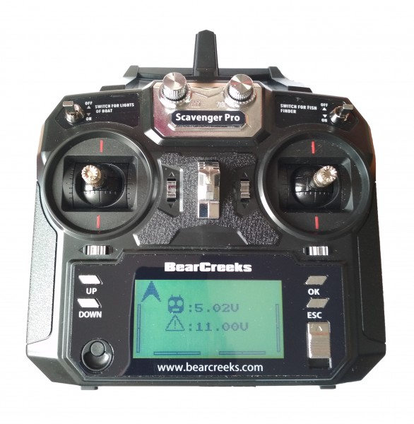 Bearcreeks 5.8Ghz 6 Channel Remote Control for Bait Boat with GPS Autopilot